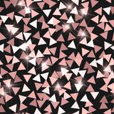 Glitter seamless texture. Adorable pink particles. Endless pattern made of sparkling triangles. Nice. Abstract vector illustration royalty free illustration