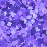 Glitter seamless texture. Adorable purple particles. Endless pattern made of sparkling squares. Dram. Atic abstract vector illustration stock illustration