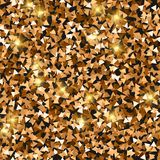 Glitter seamless texture. Adorable red gold particles. Endless pattern made of sparkling triangles. Resplendent abstract vector illustration stock illustration