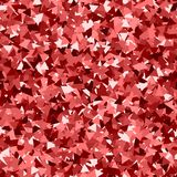 Glitter seamless texture. Adorable red particles. Endless pattern made of sparkling triangles. Radia. Nt abstract vector illustration Stock Illustration