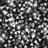 Glitter seamless texture. Adorable silver particles. Endless pattern made of sparkling triangles. St. Unning abstract vector illustration vector illustration