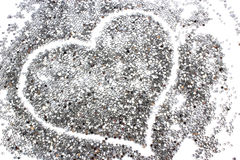 Glitter silver background with heart Stock Photos