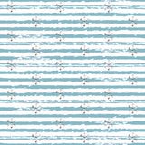 Glitter silver striped Christmas New Year seamless pattern with snowflakes.. Paint brush strokes background. Silver snowflakes. Stripes lines. Vector Royalty Free Stock Images
