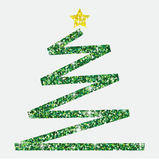Glitter simple Christmas tree. In  format Stock Photos