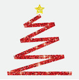 Glitter simple Christmas tree. In  format Royalty Free Stock Photography
