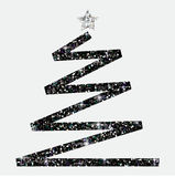 Glitter simple Christmas tree. In  format Royalty Free Stock Images