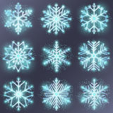 Glitter snowflake vector Stock Photo