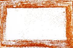 Glitter sparkle frame border Stock Image