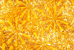 Glitter sparkle golden Stock Image