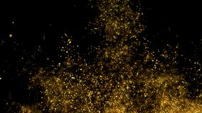 Glitter Sparkle Particle Explosion Background Texture Slow Motion alpha channel stock video