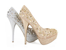 Glitter spiked club shoes Stock Photography