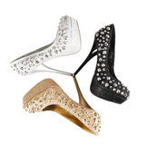Glitter spiked shoes stock photo