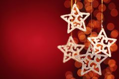 Glitter star decoration Stock Photography