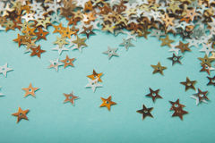 Glitter stars background Stock Photography