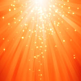 Glitter stars descending on beams of light Royalty Free Stock Photos