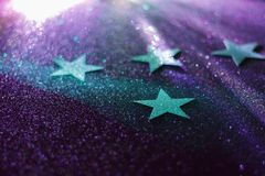 Glitter stars stock photography