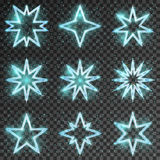 Glitter stars vector. Glitter stars. Bright and shiny decoration christmas,  twinkling and scintillation, vector illustration Stock Photos