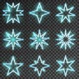 Glitter stars vector Stock Photos