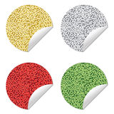 Glitter stickers Stock Photo