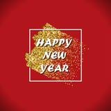 Glitter stroke NY Royalty Free Stock Image