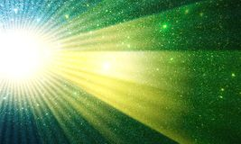 Sun Rising Glitter textured background,Bright,shining and lighting effects background. royalty free stock image