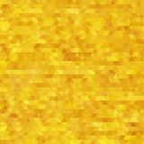 Glitter triangles mosaic faceted golden abstract background. Royalty Free Stock Photos