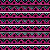 Glitter Tribal Background Seamless Image Turquoise Pink Royalty Free Stock Image