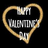 Glitter Valentines Day heart. Valentine's Day. Vector background Stock Photo