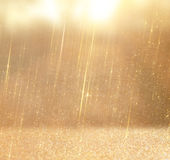 Glitter vintage lights background. abstract gold background . defocused.  Royalty Free Stock Image
