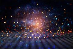 Glitter vintage lights background. black, blue, purple and gold. de-focused. Glitter vintage lights background. black, blue, purple and gold. de-focused Vector Illustration