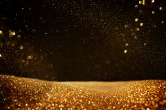 Glitter vintage lights background. black and gold. de-focused. Glitter vintage lights background. black and gold. de-focused stock illustration