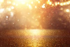 Free Glitter Vintage Lights Background. Black, Silver And Gold. De-focused. Royalty Free Stock Photo - 125811855