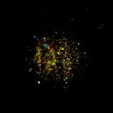Glitter vintage lights background. dark gold and black. Christmas card. Glitter vintage lights background. dark gold and black. defocused. Christmas card Stock Images