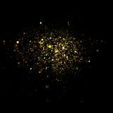 Glitter vintage lights background. dark gold and black. Christmas card. Glitter vintage lights background. dark gold and black. defocused. Christmas card Stock Photos