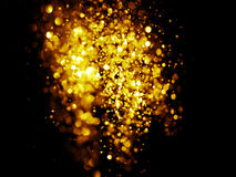 Glitter vintage lights background. dark gold and black Royalty Free Stock Photography