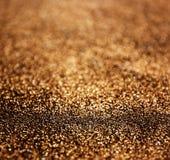Glitter vintage lights background. dark gold and black. defocused Royalty Free Stock Photography