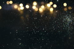 Glitter vintage lights background. de-focused Royalty Free Stock Photos