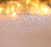 Glitter vintage lights background. de-focused Stock Image