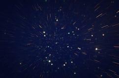 Glitter vintage lights background. defocused. Stock Images