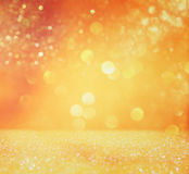 Glitter vintage lights background. defocused Royalty Free Stock Photos