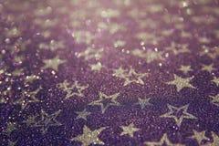 Glitter vintage lights background. defocused. Royalty Free Stock Photography