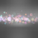 Glitter vintage lights background. EPS 10 Stock Photo