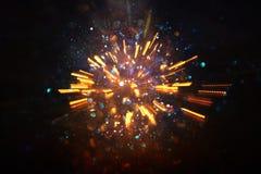 glitter vintage lights background. gold light burst. defocused. royalty free stock images