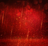 Glitter vintage lights background. gold, red and purple. defocused Royalty Free Stock Images