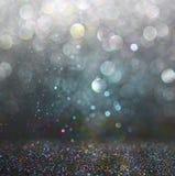 Glitter vintage lights background Stock Images