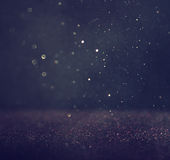 Glitter vintage lights background. light silver and black. defocused Royalty Free Stock Images
