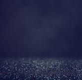 Glitter vintage lights background. light silver and black. defocused. Royalty Free Stock Images