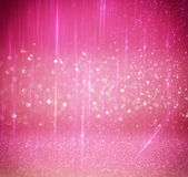 Glitter vintage lights background. light silver, and pink. defocused. royalty free stock photos