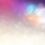 Glitter vintage lights background. light silver, purple, blue, gold and black. defocused. Stock Photos