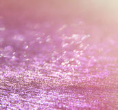 Glitter vintage lights background. pink and silver. defocused. Royalty Free Stock Image